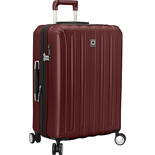 Delsey Helium Titanium 25 Inch Spinner Trolley (Black Cherry Red)