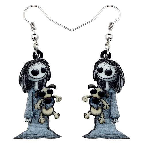 AdronQ® Acryl Dark Smile Puppe Spielzeug Ohrringe baumeln Drop Hoops Ghost Schmuck für Frauen Mädchen Party Kostüme