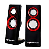 Combusters USB Design Lautsprecher Box Boxen Pc Tower Computer Laptop Notebook schwarz rot Speaker...