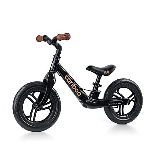 Cariboo Magnesium Pro - Bicicleta sin pedales a partir de 2 años, marco de magnesio, ultraligera, ruedas de 12 pulgadas, hasta 30 kg, sillín regulable en altura, montaje rápido