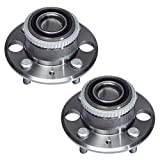 TUCAREST 513105 x2 (Pair) Rear Wheel Bearing and Hub Assembly Compatible With 1990-1901 Acura Integra (Exc.Type R Models) 1992-1995 Honnda Civic 1995-1997 Civic del Sol [4 Lug W/ABS]