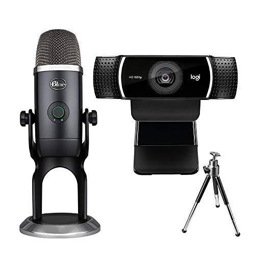 Logitech C922 Pro Stream Webcam (Full HD 1080p-Streaming) + Blue Yeti X, Professionelles USB-Kondensatormikrofon