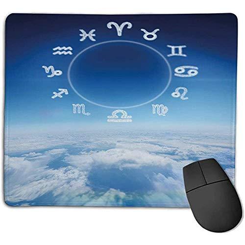 Muis Pad Bundel Astrologie Zodiac Tekenen Waterman Vissen Ram met Hemel Wolken Achtergrond Art Sky Blauw en Wit Geniet Pr