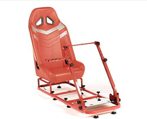 Monza 2 Performance Game Seat voor PC en game consoles in rood & grijs hard dragen kunstleer