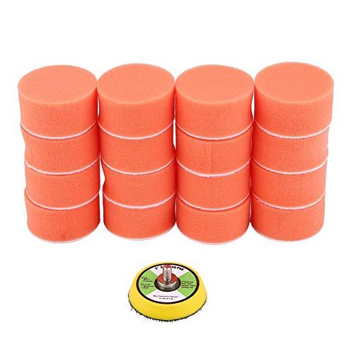 Almohadillas de pulido de coche naranja, almohadilla de pulido reutilizable, 17 piezas 50 mm para pulidora de pulidora de coche