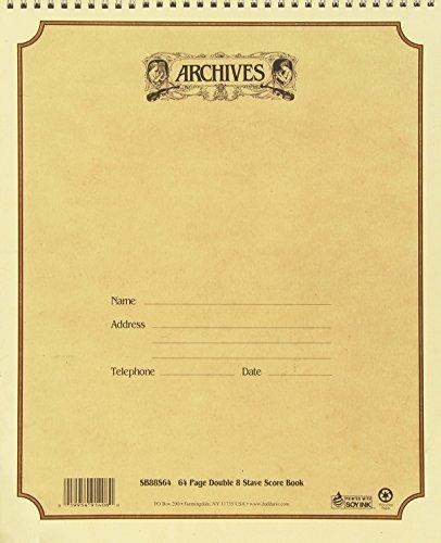 D'Addario SB88S64 Spiralnotenbuch, 8 Notenbalken, 64 Seiten