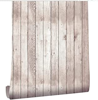 Homeme Wood Wallpaper, 45cm x 6m Self Adhesive Wallpaper Peel Stick Wallpaper with PVC Waterproof Oil-Proof and Removable ...
