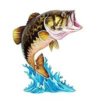 車のバンパーデカール 魚の魚の海の釣りステッカーデカールの装飾車のオートバイのための防水道路のラップトップヨット船の窓の窓PVCビニール (Color Name : Sea Fishing1, Size : 10cm)
