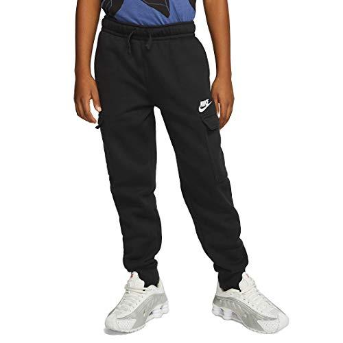 Nike Jungen B NSW Club Cargo Pant Hose, Schwarz, Schwarz, Weiß, XS