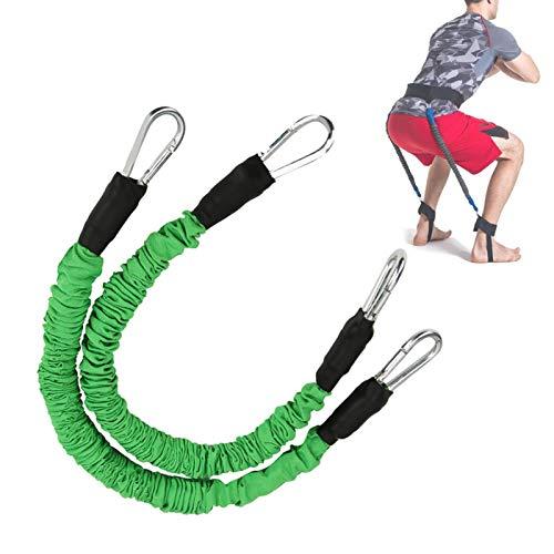 DAUERHAFT Langlebiger Springtrainer Tragen Sie widerstandsfähiges Springseil, elastisch, Muskelkraftzug, Körperform(Green)