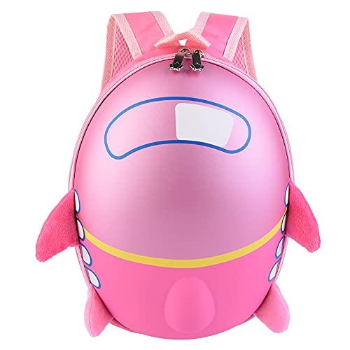 YIFengFurun Lindo dibujos animados cómodo avión patrón mochila escolar para bebé niño (rosa)