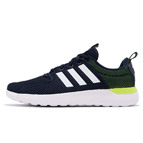 Adidas Cf Lite Racer, Scarpe Running Uomo, Blu (Collegiate Navy/Footwear White/Solar Yellow), 43 1/3 EU