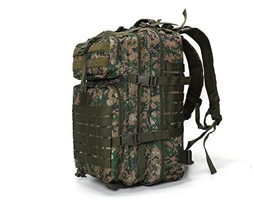 QKDJ Tactical Assault Backpack, Large 55l Military Backpack, Military Rucksack, School Backpack, Used for Outdoor Camping, Hiking, Hunting, and Hiking,JungleDigital