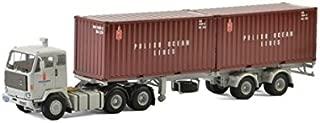 WSI01-2144 Camion porte containeur Volvo F89 avec 2 containers 20ft aux couleu