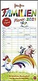 Helme Heine Familienplaner 2021 - Heye-Kalender - Familienkalender - Mit 5 Spalten, Schulferien und 2 Stundenplänen - 21 cm x 42 cm