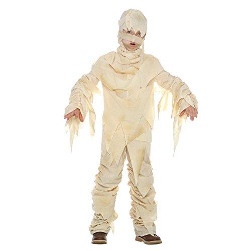 Kinder Ägyptische Mumie Monster Kostüm für Partys, Karneval und Halloween für Jungen und Mädchen - S (3 - 5 Jahre)