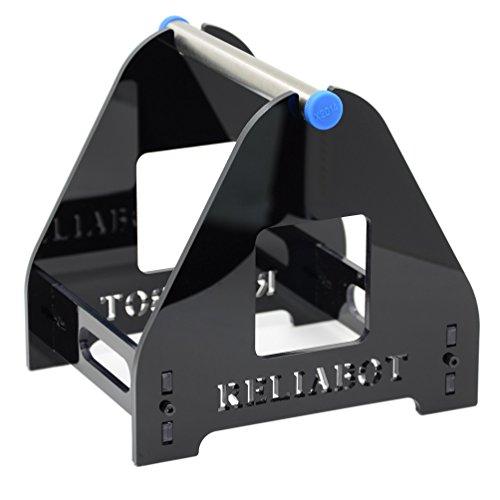 ReliaBot 1 Bobina Bracket Acrilico Stampante 3D Filamento Titolare Cremagliera per 500G 0,5 KG 1KG PLA, ABS, Legno, TPU, Nylon, PETG, PC, Materiali flessibili (Nero)