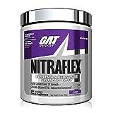 GAT Sport, NITRAFLEX Testosterone Enhancing Powder, Increases Blood Flow, Boosts Strength & Energy, Improves Exercise Performance, Creatine-Free (Grape, 30 Servings)