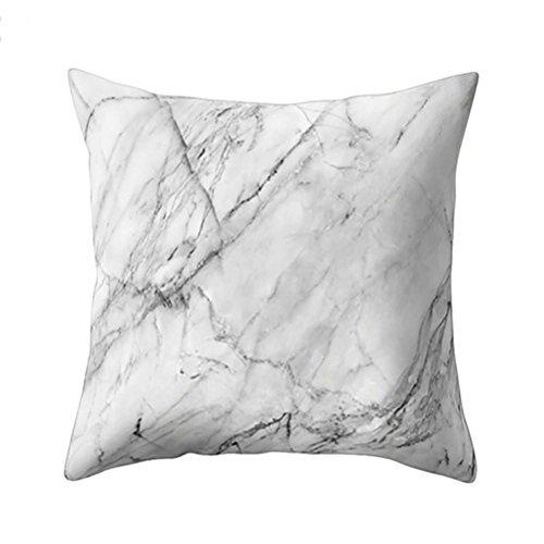 Housse taie d'oreiller, Gaddrt texture en marbre géométrique jeter coussin Housse canapé maison Decor (H)