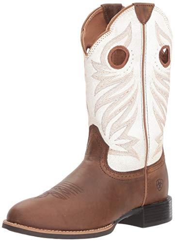 Ariat Women's ROUND UP STOCKMAN Boot, crushed peanut, 11 B US