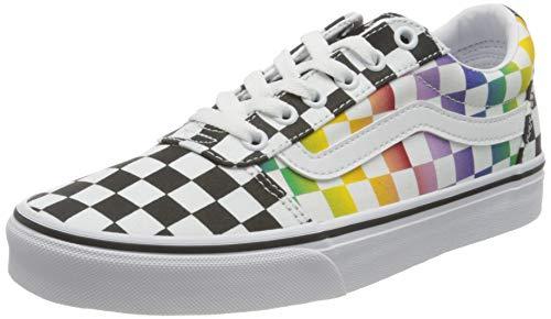 Vans Damen Ward Canvas Sneaker, (Rainbow Check) Black/White, 38 EU