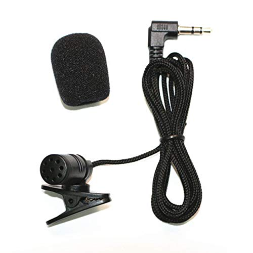 Tree-on-Life Kragenmikrofone Telefonmikrofon 3,5 mm Buchse Freisprech-Revers Mini Wired MIC Schwarz