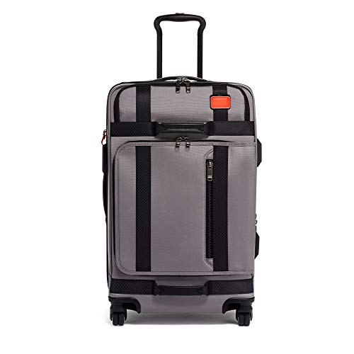 TUMI - Merge Short Trip Expandable Packing Case Medium Suitcase - Rolling Luggage for Men and Women - Grey/Bright Red