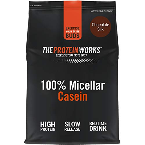 100% Micellar Casein Protein Powder | Slow Release Protein Shake | Amino Acids | High Protein | THE PROTEIN WORKS | Chocolate Silk | 500 g