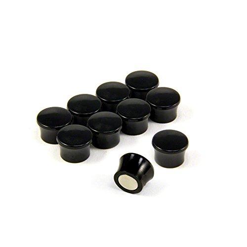 Magnet Expert® F4M18BK-1 Petit Noir Puissance « Memo » Conseil aimants-Bureau & frigo (17,5 mm dia x 12,3 mm de Hauteur) (1 Paquet de 10), Argent