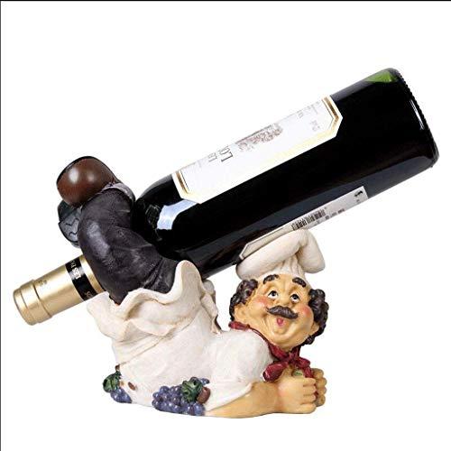 POETRY Estantes de Vino Estante de Vino de Dibujos Animados Independiente Soporte de Botella de Vino Soporte de Almacenamiento de Madera Cocina Bar Familiar