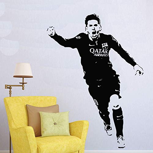 Andre Shop Lionel Messi Barcelona Football Player Wall Decal - Lionel Messi Decals - Argentina Soccer Sport Athlete Wall Sticker Vinyl Art - Boy Room Decor Custom Color