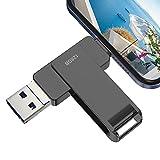 Y-Disk Pendrive 128 GB Phone, Pen Drive USB 3.0 Photo Stick, 4 en 1 Memoria USB C Flash Drive 128 GB Typo C para Movil iOS Android Smartphone Computadoras Laptops