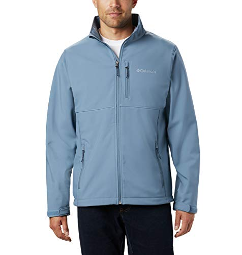 Columbia Men's Big and Tall Ascender Softshell Water and Wind Resistant Jacket, Mountain, XLT