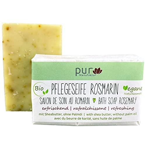 Manufaktur Pur Pflegeseife Rosmarin-Lavendel-Salbei 100 g Bio Natur-Olivenölseife
