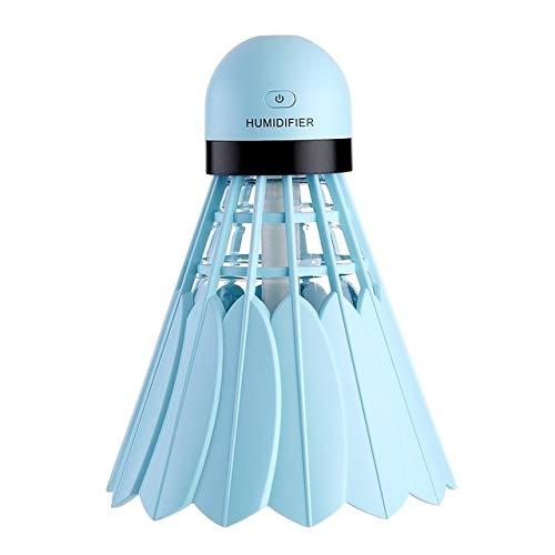 Mini Usb Ultraschall Luftbefeuchter Luftverteiler Nebelmacher Mit Led Nachtlicht Badminton Luftbefeuchter Für Home Office Auto Gebrauch Blau
