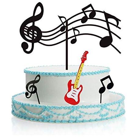 Notas Musicales Para Cupcakes Acrílico Decoración Para Tartas De Guitarra Temática Musical Suministros Para Fiestas De Cumpleaños Decoración Para Cupcakes De Roca Negro Para Fiestas De Cumpleaños Infantiles Toys Games