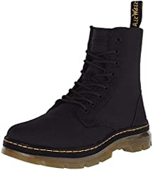 Fold down boot Air-cushioned, synthetic sole Slip resistant Classic doc dna: goodyear welted stitch, heel loop and grooved sides lightweight materials meet heavy duty construction in a fold-down boot that suits whatever terrain you traverse.