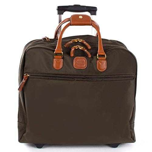 Bric's Luggage BXL38124 X Travel Ultra-Light Pilot Case Carry On, Olive, One Size