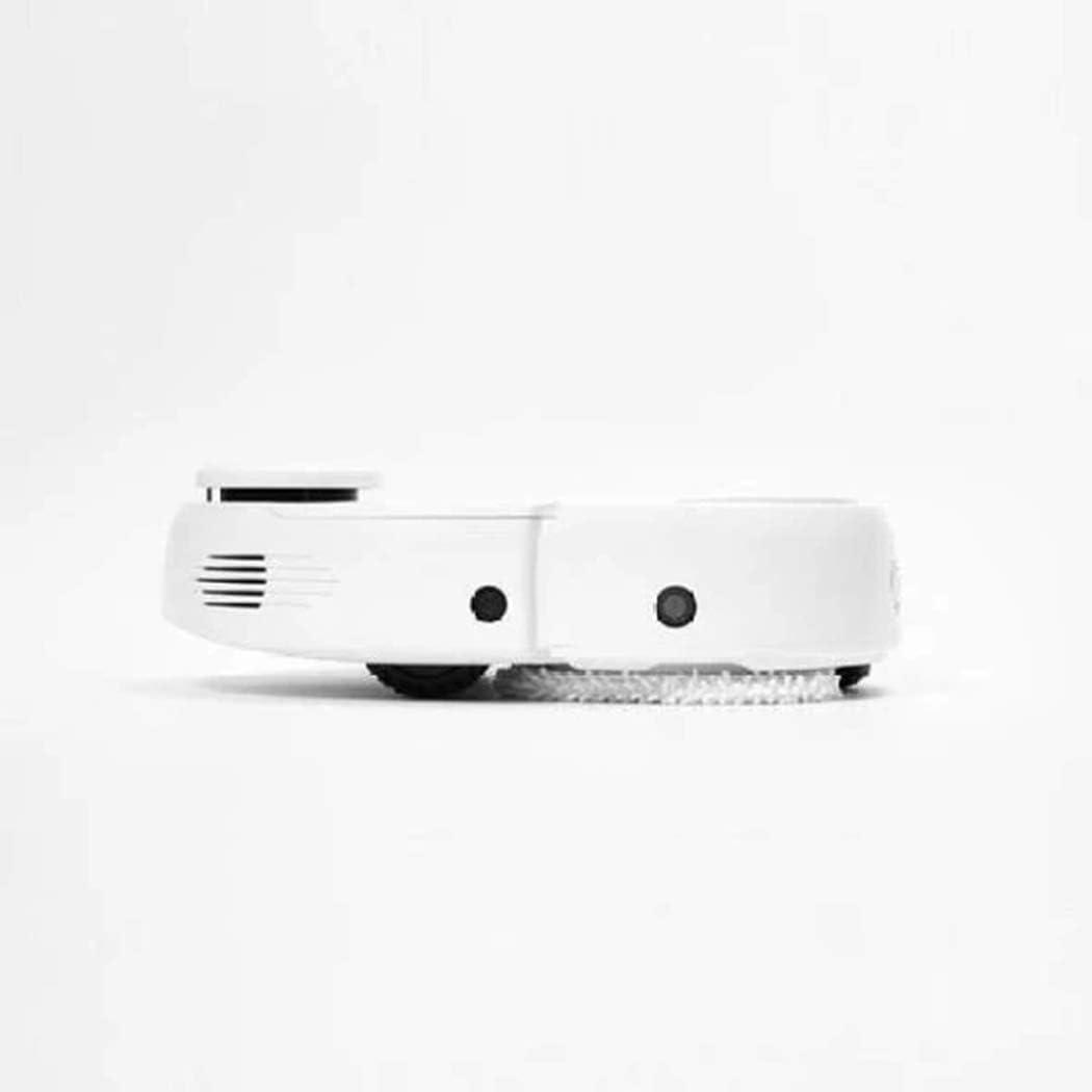 sterzo automatico 2 in 1 protezione anticollisione avviamento con un solo pulsante pulizia intelligente bianca Robot aspirapolvere con forte potenza di aspirazione bianco
