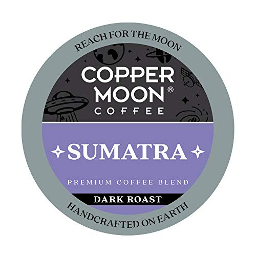 Copper Moon Single Serve Coffee Pods for Keurig K Cup Brewers, Sumatra Blend, Dark Roast Coffee, 80 Count