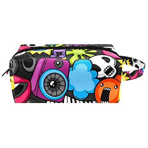 Neceser colgante bolsa de cosméticos papelería organizador bolsa portátil estuche de música dibujos animados