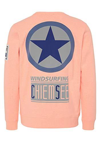 Chiemsee - Retro-Print Zayn Herren Sweatshirt, Größe:XXL, Farben:Neon Orange