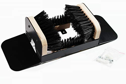 HUILE The Original Boot Scrubber, Outside Boot Scraper with Replaceable Brushes, for All Weather Industrial Shoe Cleaner & Scraper Brush (with Ears)