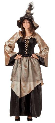 r-dessous hochwertiges Hexenkostüm und Hut Zauberin Feen Mittelalter Damen Kostüm Halloween Outfit Karneval Groesse: XXL/XXXL
