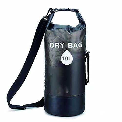 Waterproof Bag, Impermeable 10L, Dry Bolsa Estanca, Seco para Kayak, Pesca Playa, Deportes, Mochila Estanca Transparente, Rafting, Camping