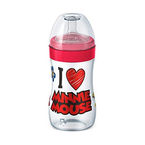 Mamadeira Super Evolution Disney Silicone - Lillo, Vermelha, 300 ml
