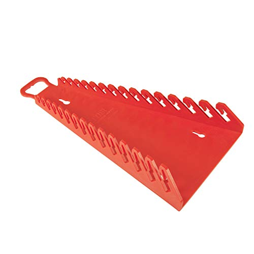Ernst Manufacturing Gripper Reverse Wrench Organizer, 15 Tool, Red