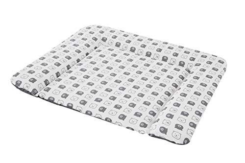 Träumeland TT80211 PVC-freie Wickelauflage/Wickelunterlage 'kleiner Bär', Größe 75 x 85 cm, mehrfarbig
