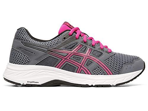 ASICS Women's Gel-Contend 5 (D) Running Shoes, 8W, Metropolis/Fuchsia Purple