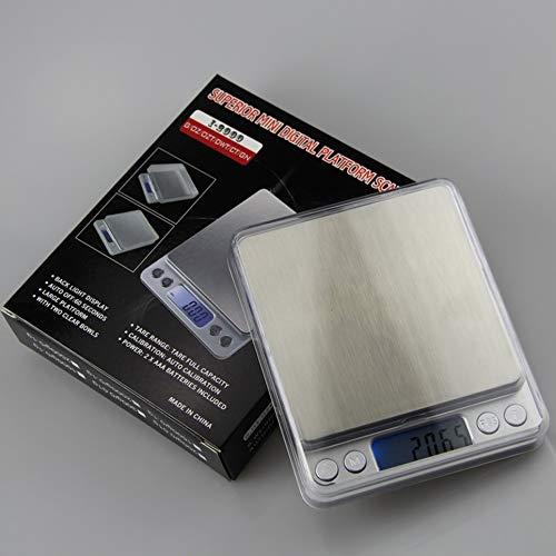 WOIA I2000 LCD Digital Joyas electrónicas Escala de Diamantes Peso de Equilibrio de precisión, Plata